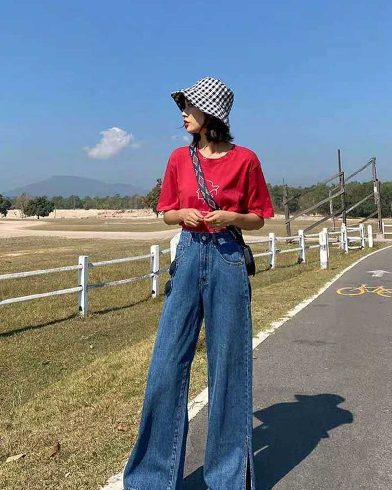 Denim Jeans harem Pants for Female