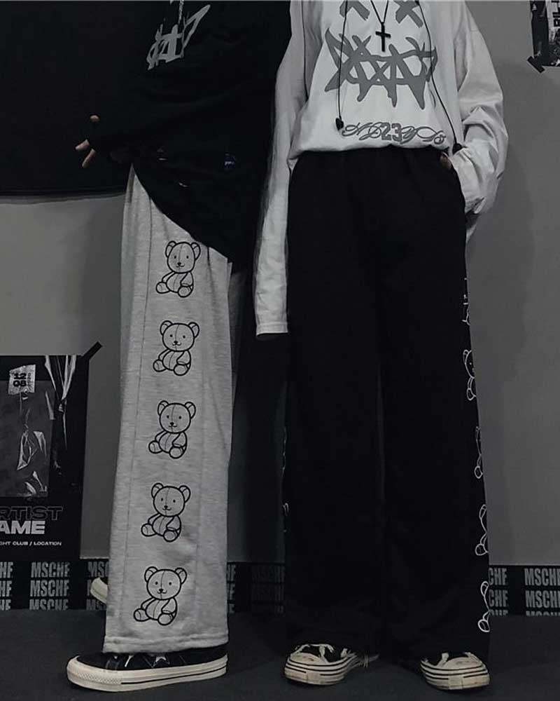 Korean Style Wide Leg Pants