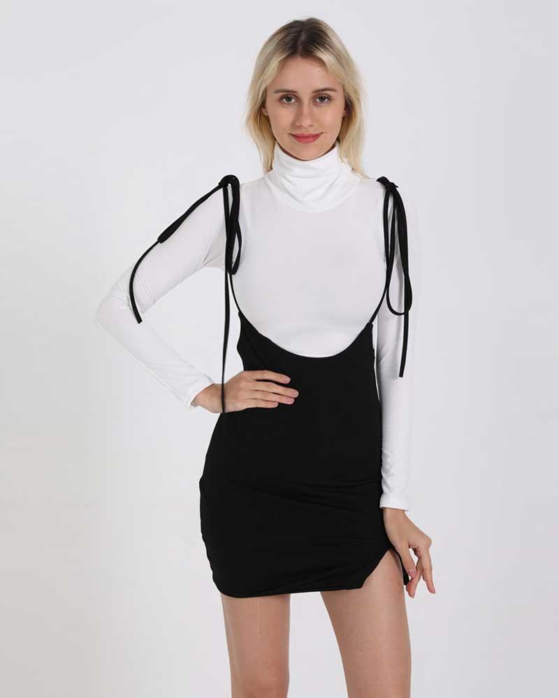 Split High Waist Skirt Female