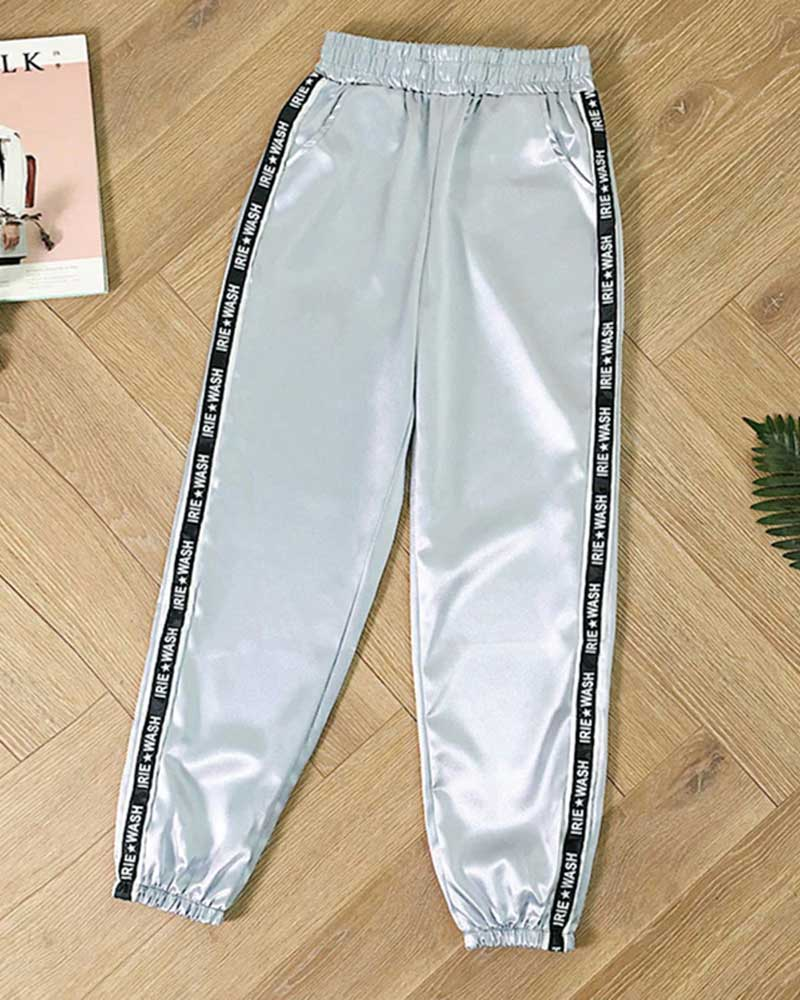 Summer Big Pocket Ribbon Trousers