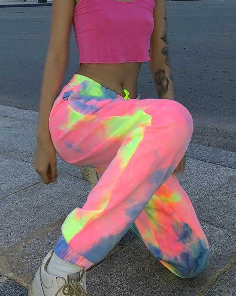 Tie-Dye Aesthetic Track Pants Streetwear