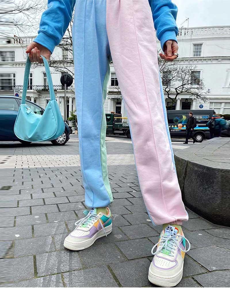 Vintage Patchwork Joggers Sweatpants