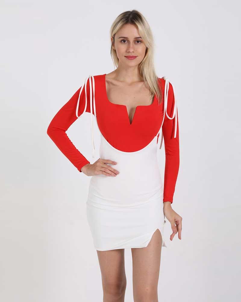Women Fashion Irregular Split High Waist