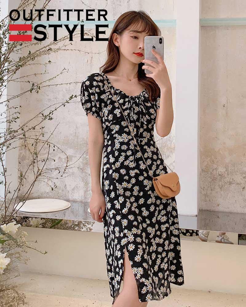 Chiffon French Dress Summer