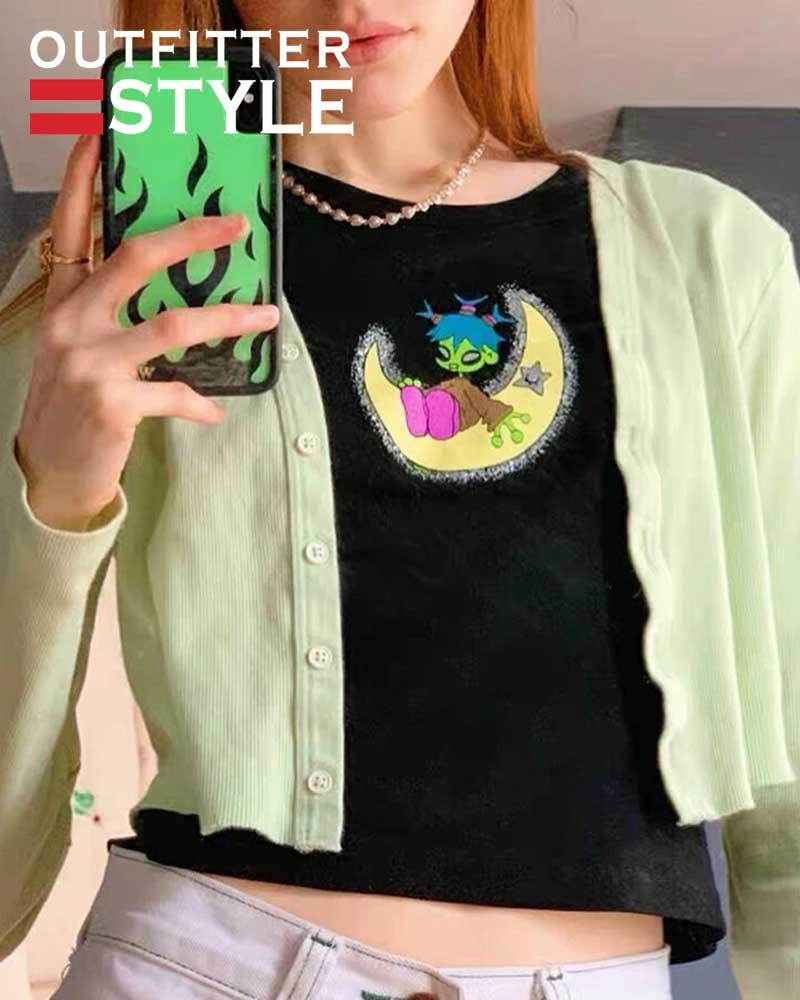Fashion Gothic Punk Girls T-shirt