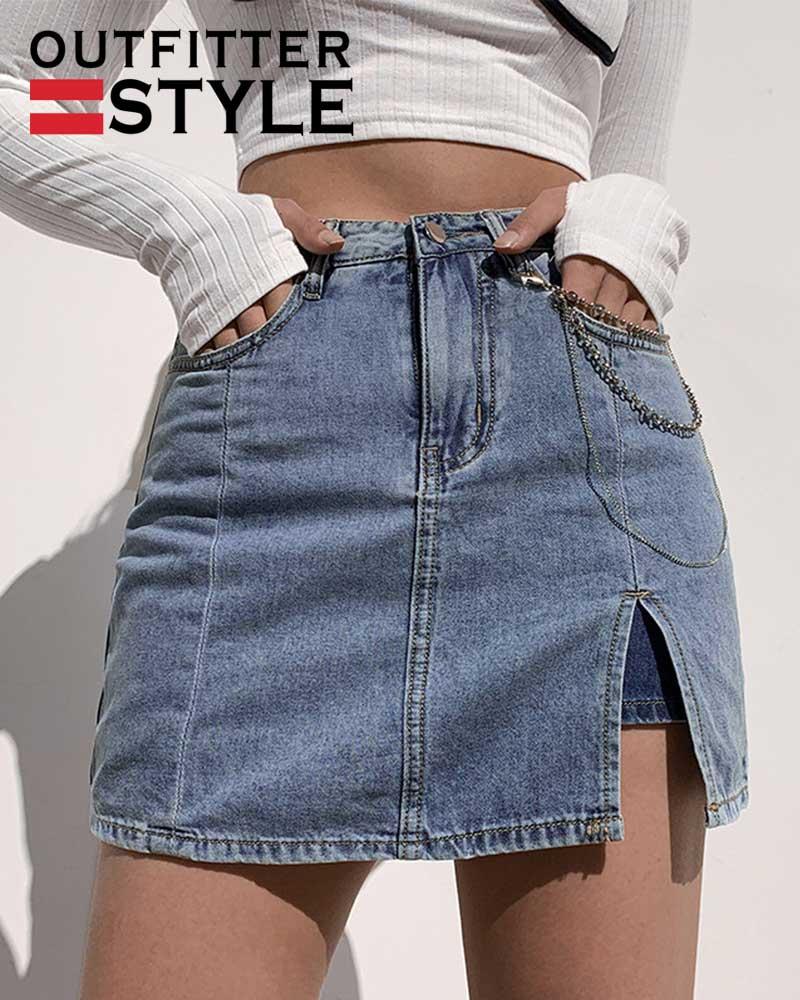 Fashion High Waisted Skirt Temperament