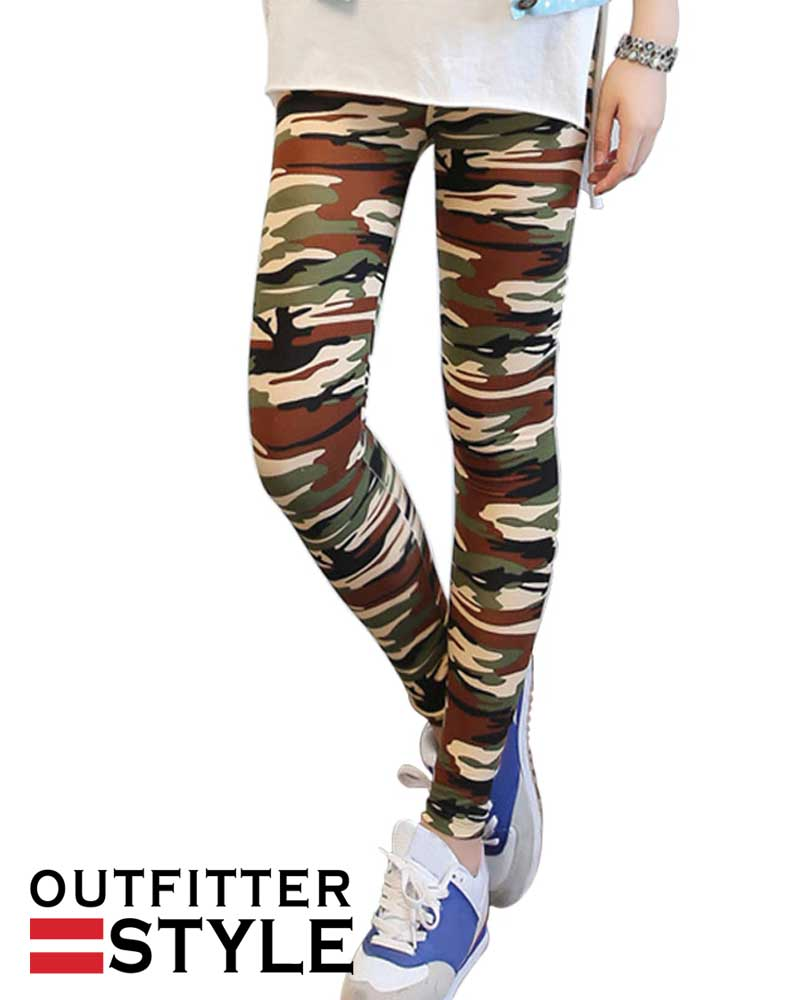 Leggings Fitness Military Army Green