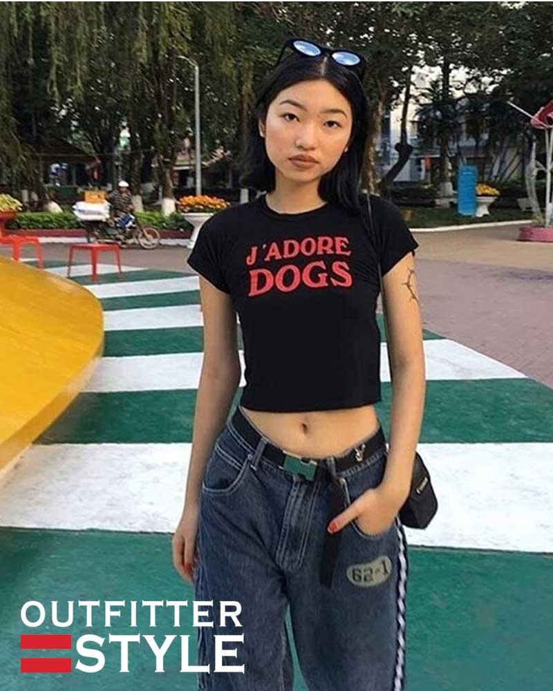 Letters Print T-Shirt Harajuku