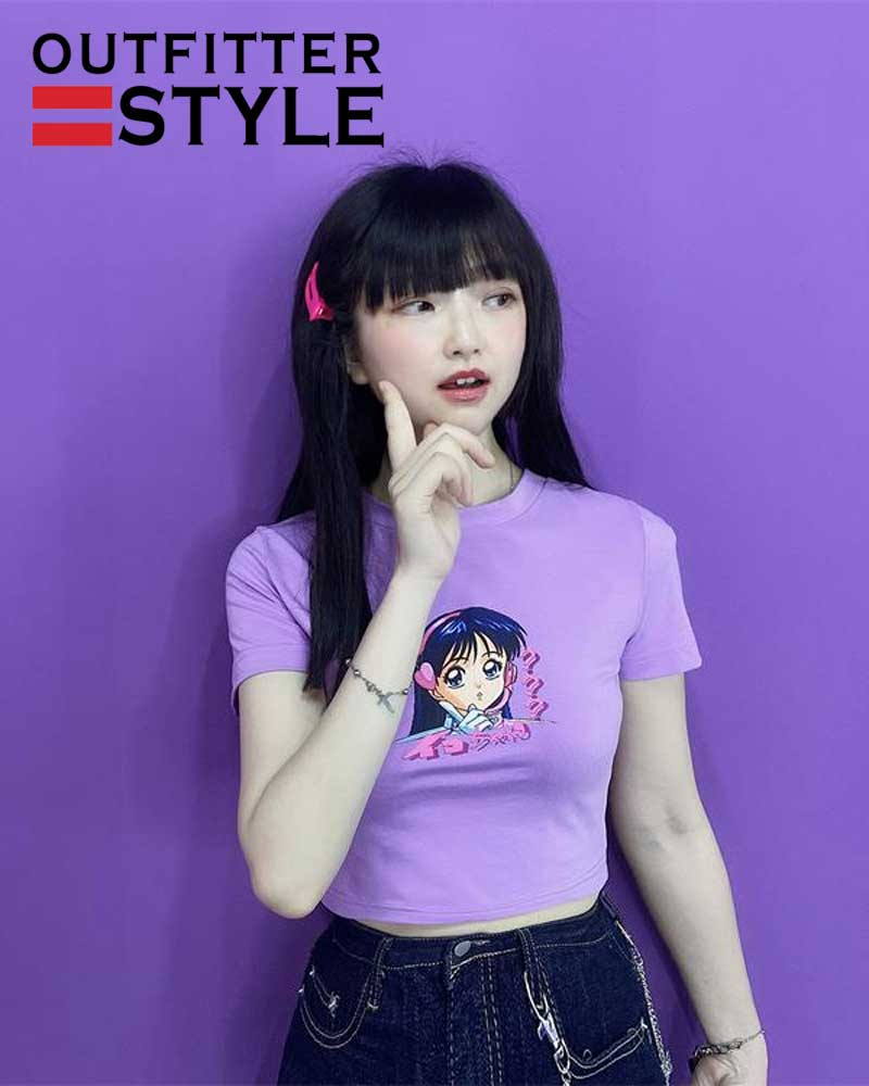 Maiden Anime Graphic T Shirt