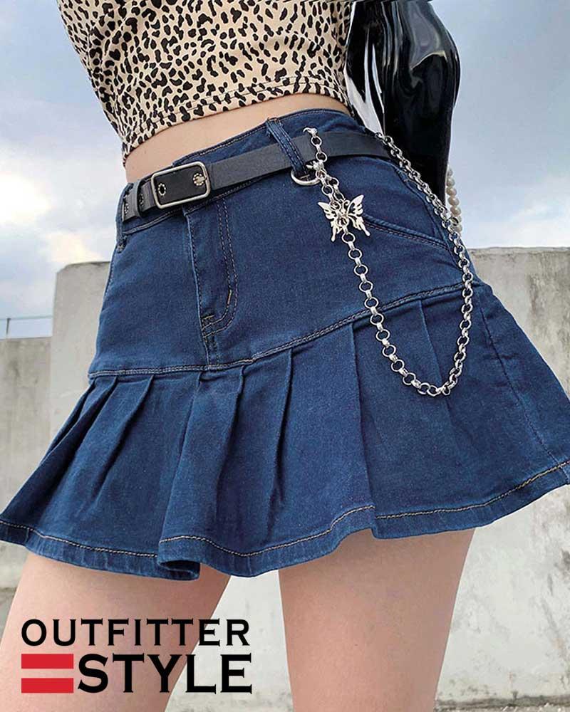 Mini Pleated Skirt Ladies