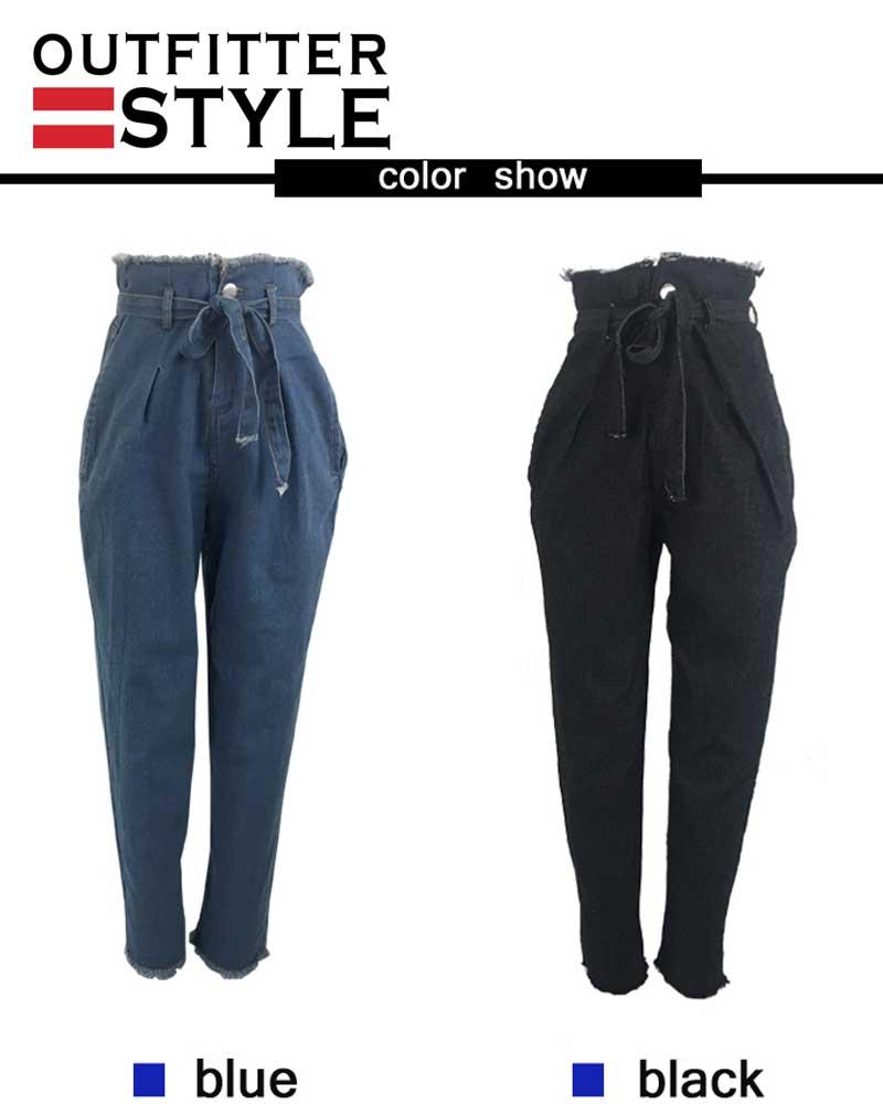 Pants Black Jeans Women Plus size