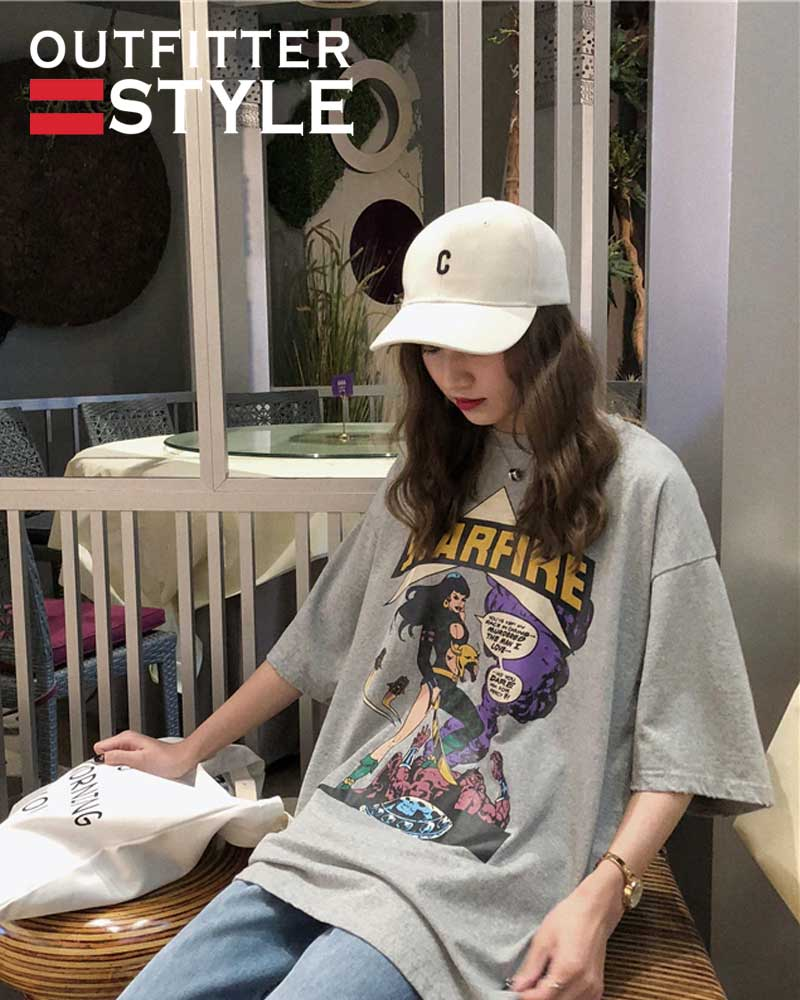 Printed Casual Vintage Basic All Match