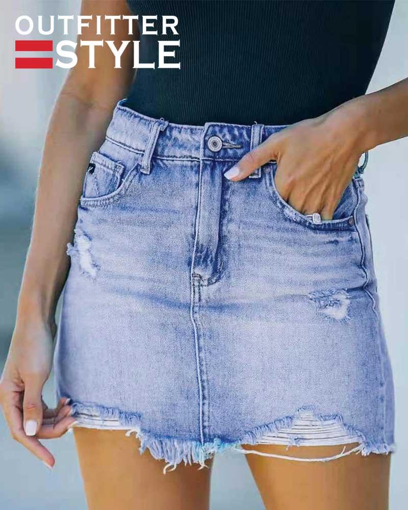 Sexy Jeans High Waist A-line Slim