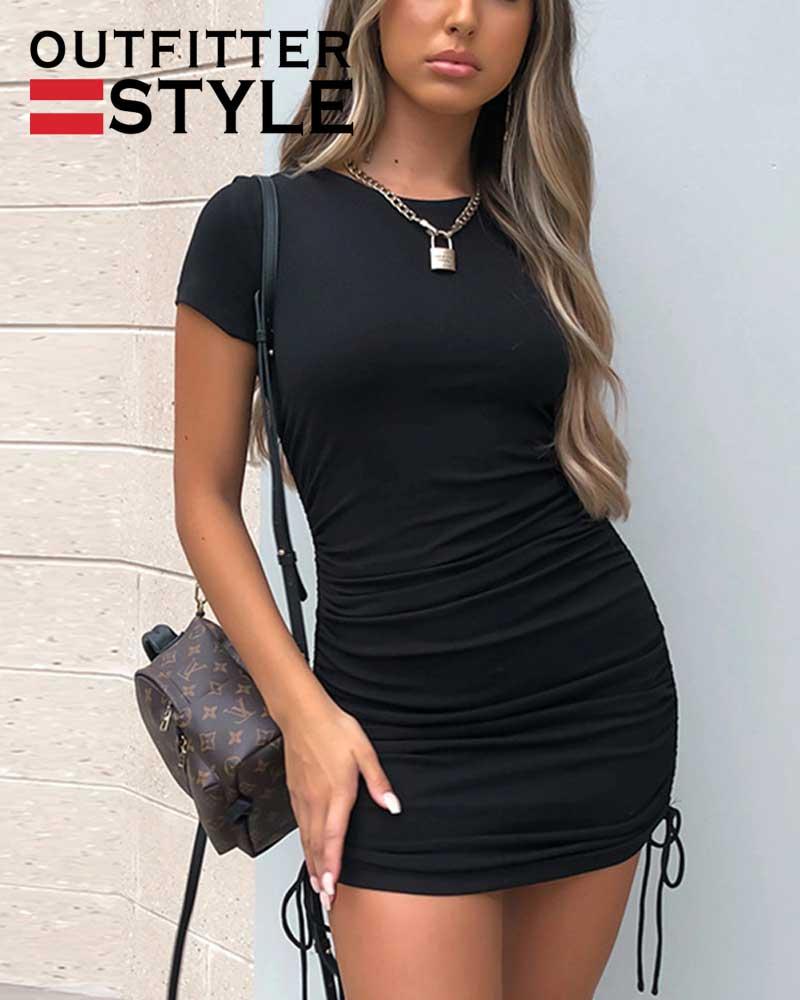Short Sleeve Fashion Drawstring