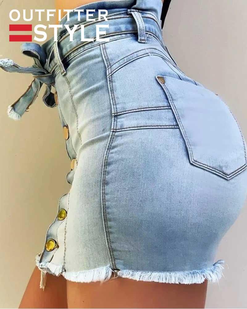 Summer High Street Pockets Button