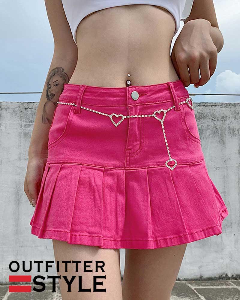 Summer High Waist Jeans Shorts Skirts Women Ruffles