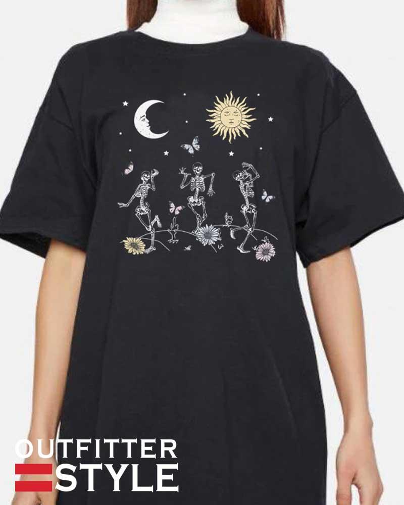 Sun Moon Skeleton Dance T-Shirt