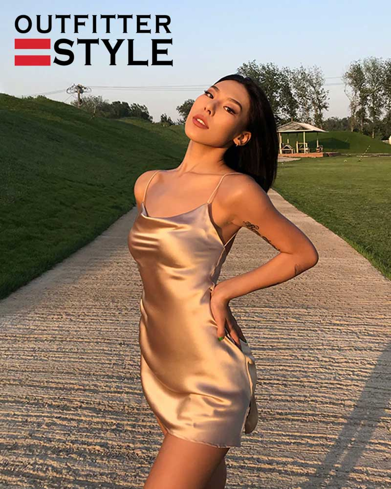 Vestidos Vestido Champagne Silk Women