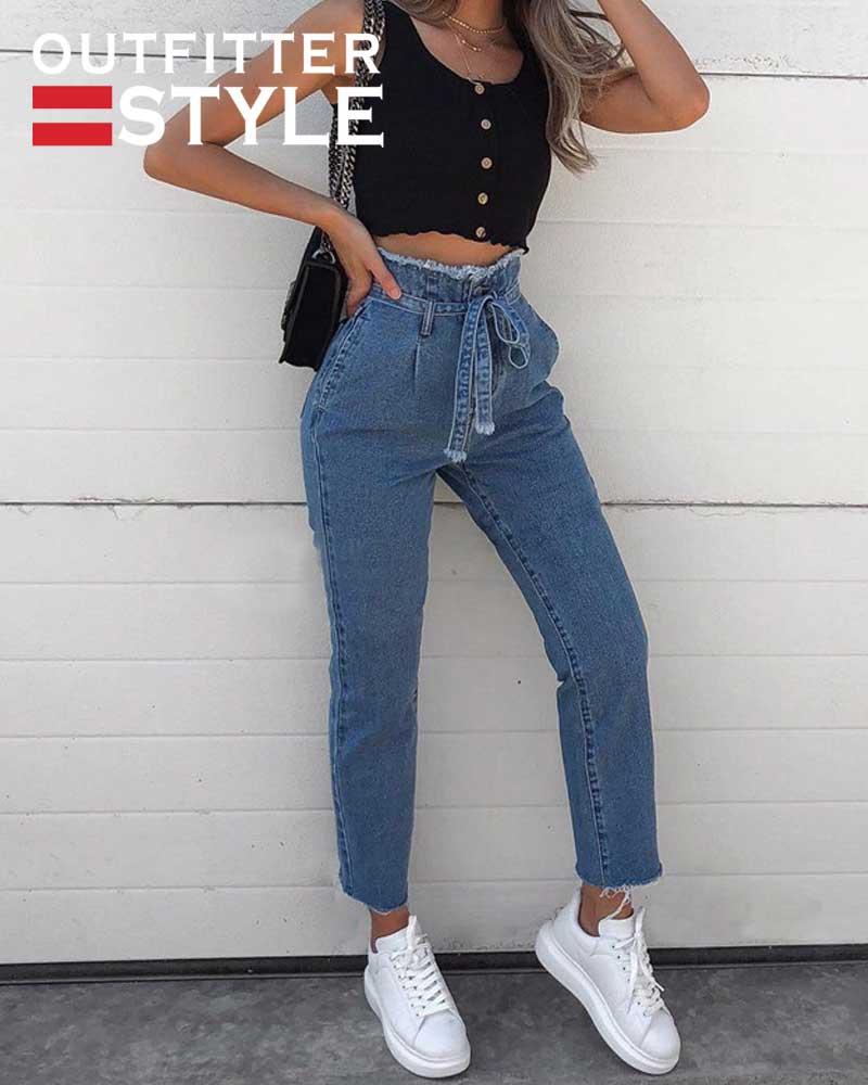 Women High Waist Jeans Sexy
