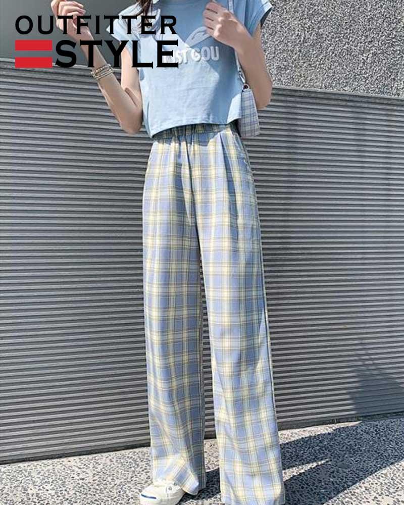 Women Summer Cotton Wide Leg Pants