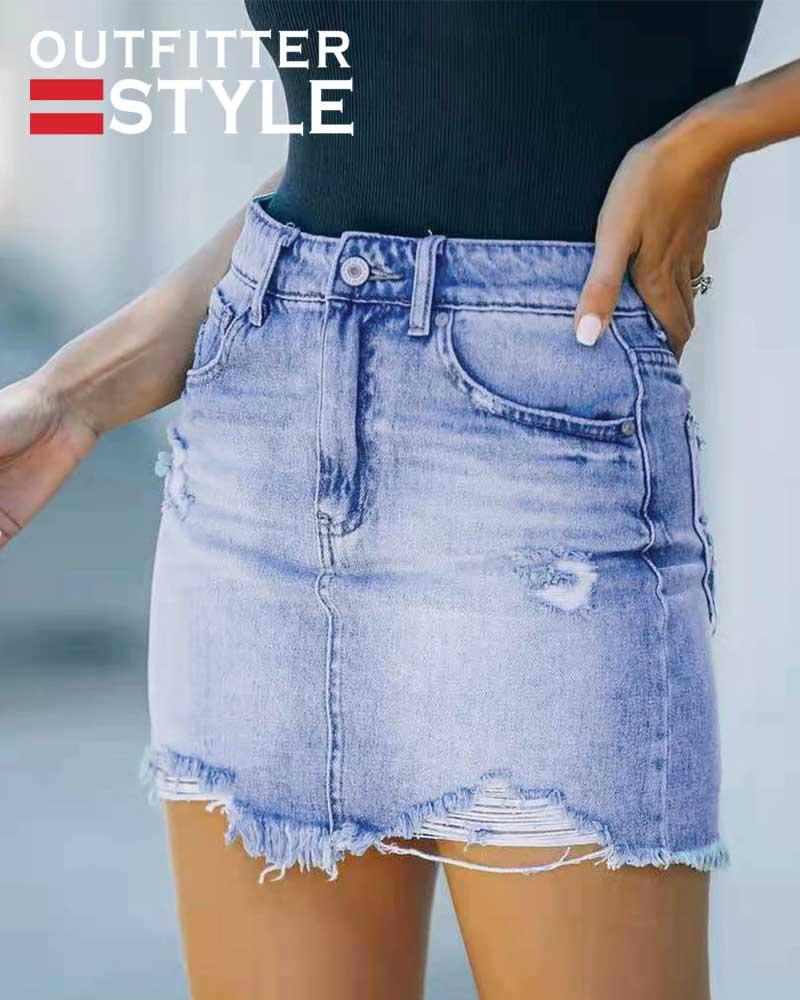 Women Summer Skirt Sexy Jeans