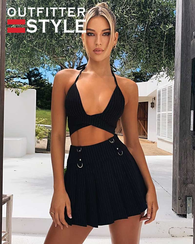 Women's Mini Pleated Skirt