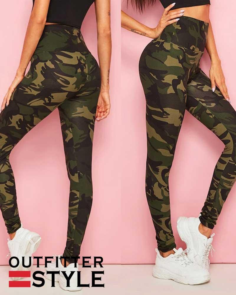 Womens Yoga Pants Camouflage Printing