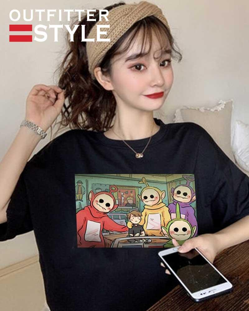 kawaii femme t-shirts vintage ropa mujer топ