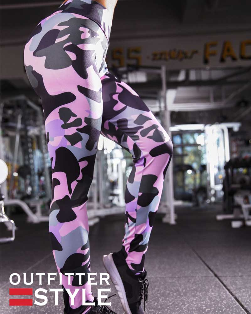 leggin snug-pants personality camouflage printing