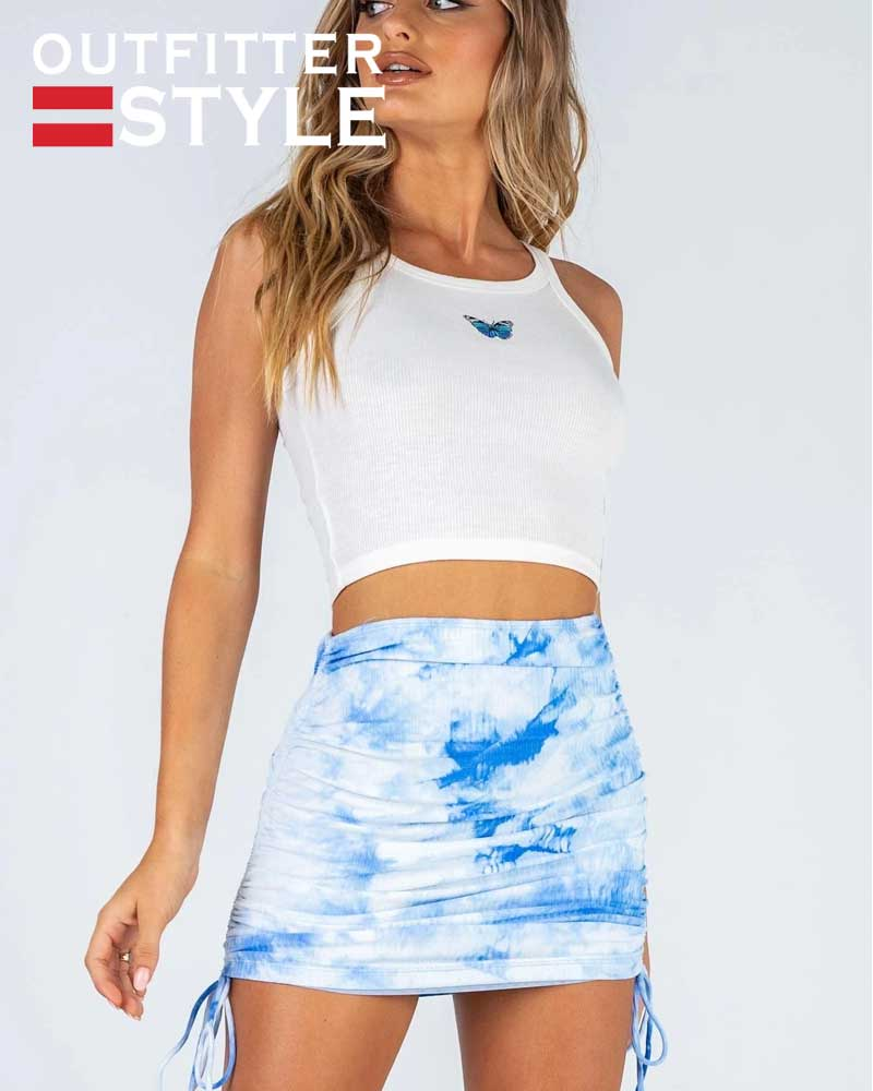 pit side draw string tie-dyed