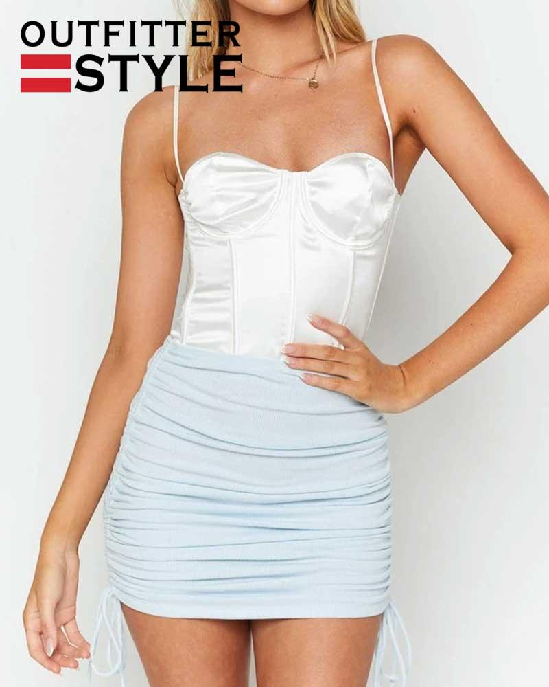 string elastic sexy skirts womens