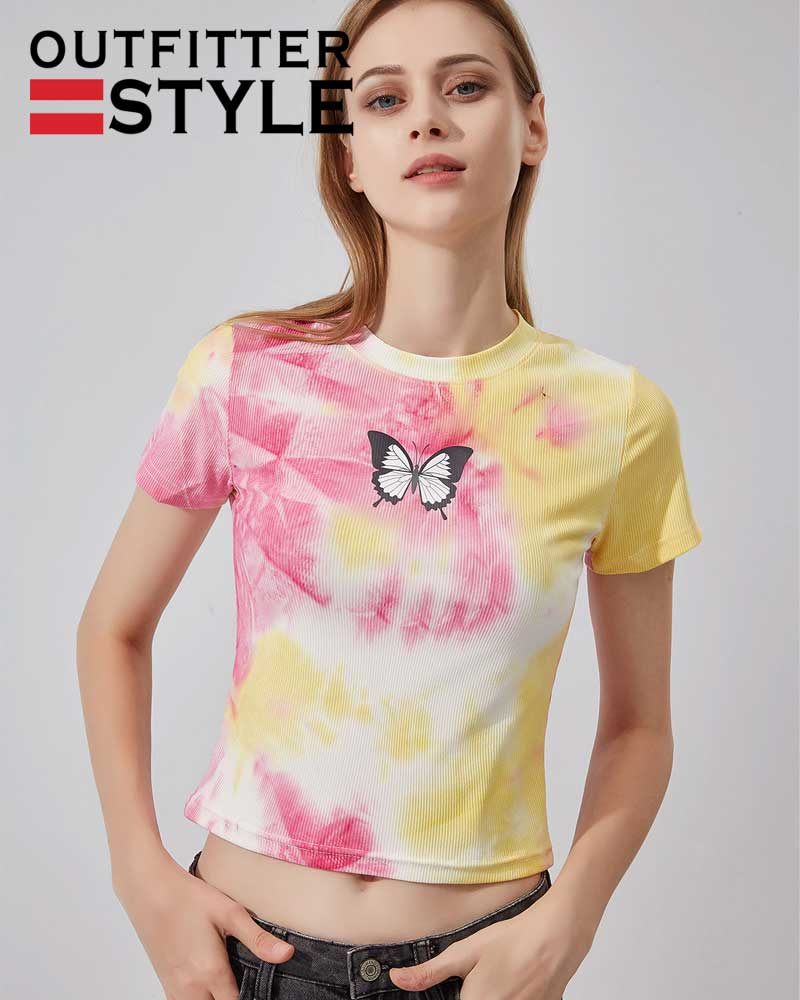 sweater tie-dyed T-shirt women