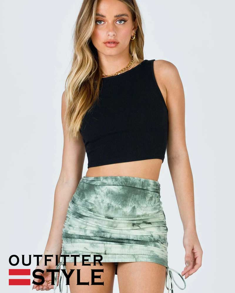 tie-dyed bag hip skirts womens
