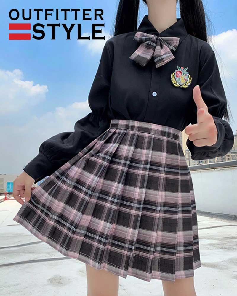women's skirt sexy plaid
