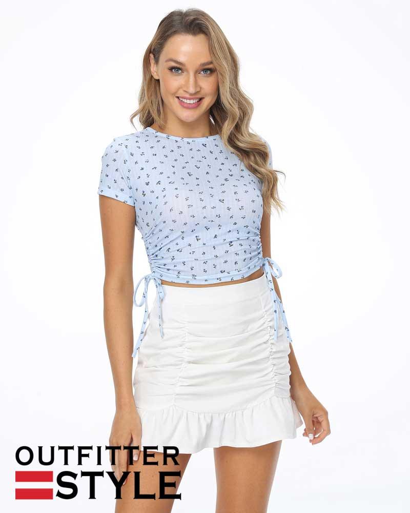 zipper skirts pure color